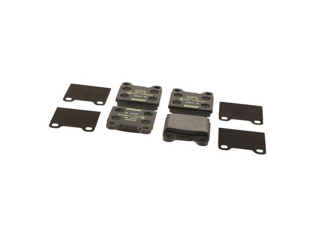 FBS - Textar OE Replacement Brake Pad Set w/ Shims (Rear) - B2C W0133-1802513-TEX