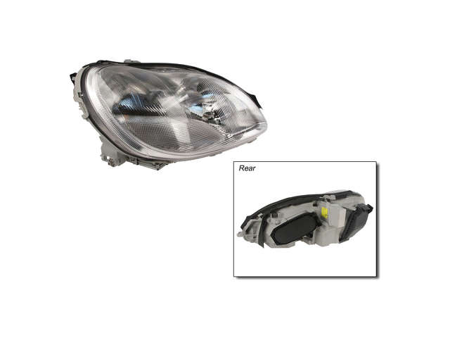 Mercedes a 2208201261 headlight assembly right xenon w220 for Mercedes benz s430 headlight replacement
