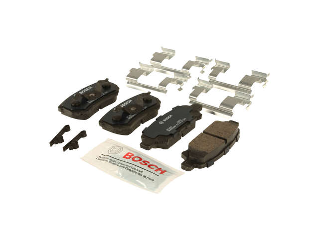 FBS - Bosch Quiet Cast Ceramic w/Hardware Brake Pad Set and Shims (Rear) - B2C W0133-1957973-BOS