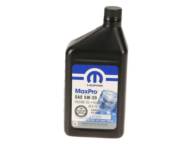 FBS - Mopar Conventional Mineral Motor Oil 5W-20 Max Pro - 1 Quart - B2C W0133-1979951-MPR
