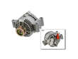 01-02 Ford Rngr S/Cab 4W V6 3.0 V6 3.0  Alternator border=