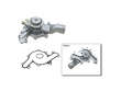 - 93 Mercury Sable V6 3.8 V6 3.8 GMB Water Pump border=